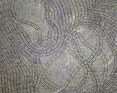 Modern Art Monoprint: Parting of the Sensory2 ... Free Shipping