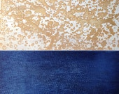 Abstract Etching Print/ Navy Blue and Yellow Home Decor: Either Way
