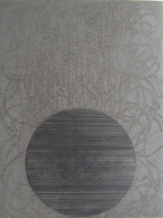 Minimalist Fine Art Etching Print: Rubber Ring 3