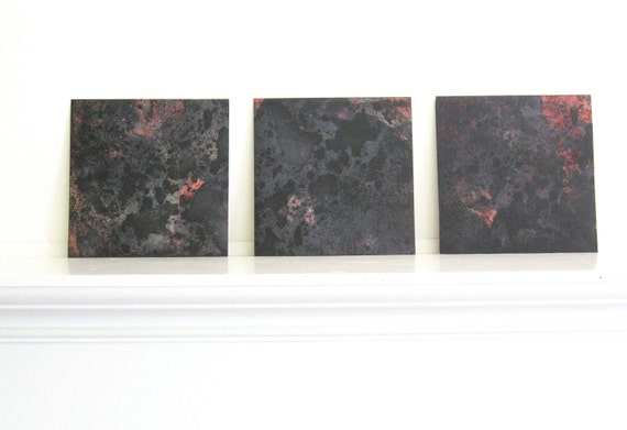 Summer Sale...Abstract  Art Etching: Surface(Triptych)
