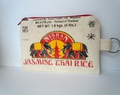 LIMITED EDITION - Zippered Purse Pouch - Thai Rice