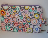 Zippered Purse Pouch - Watercolor Love