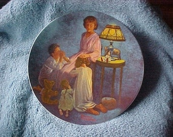 "Collector Plate....Norman Rockwell Plate ""Mother's Blessing"""