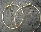 Hammered Gold Hoops reserved for SteLLnyc Only