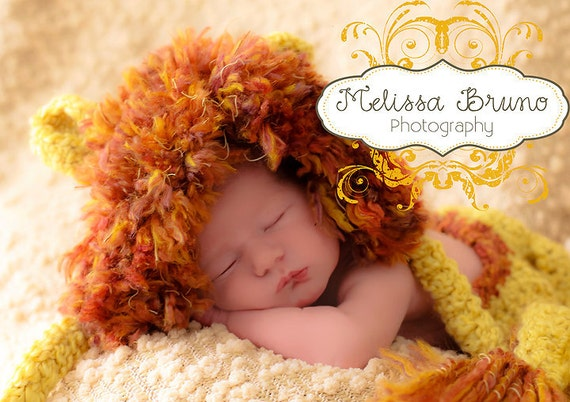 Lion Bonnet and Diaper Cover Set, Newborn