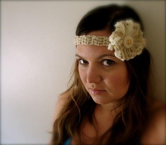 Women's Crochet Flowered Headband