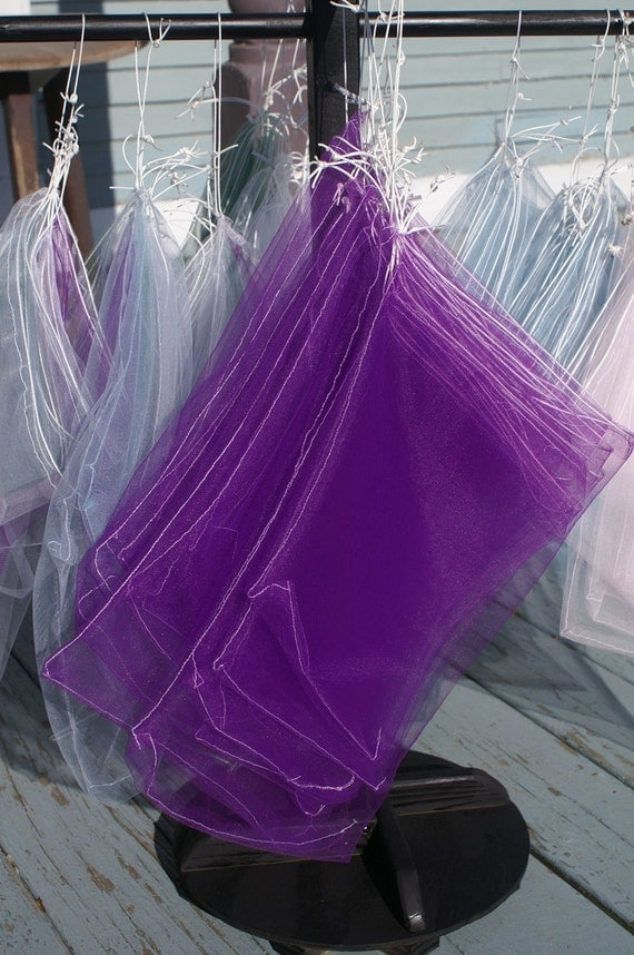 PURPLE Mesh Produce Bags- Set of 6