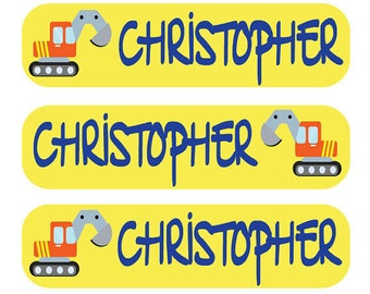 48 Custom School Supplies Labels - Perfect for Lunch Boxes, Notebooks, Toys, Crayon Boxes   - Personalized Children Tags
