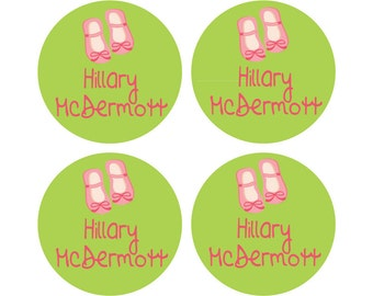 34 Extra Large Round Personalized Laundry Care Tag Labels - Custom made for your child