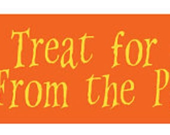96 Personalized GIft Tags - Halloween Theme for trick or treat bags