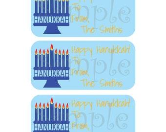81 Custom Hanukkah Gift Tags