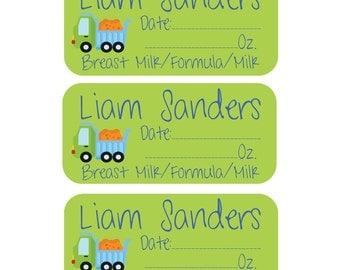 108 Personalized Removable (Single Use) Daycare Labels - Personalized Daily Bottle Labels - Breast Milk Labels