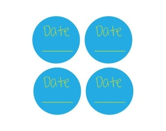 Medium Round Personalized Removable Date Label & Large Permanent Label Package - Perfect for dating items frequently