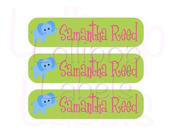 48 Custom School Supplies Labels - Perfect for Crayon Boxes, Lunch Boxes, Notebooks, Toys  - Personalized Children Tags