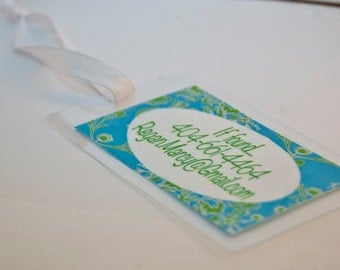 2 Personalized Luggage Tags-Laminated & Waterproof-Custom Diaper Bag Tag