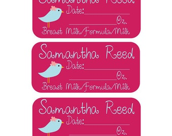 27 Removable (Single Use) Waterproof Baby Bottle Labels