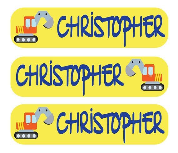 48 Dishwasher Safe Labels for your Child's Back to School Supplies - Personalized Labels for Children