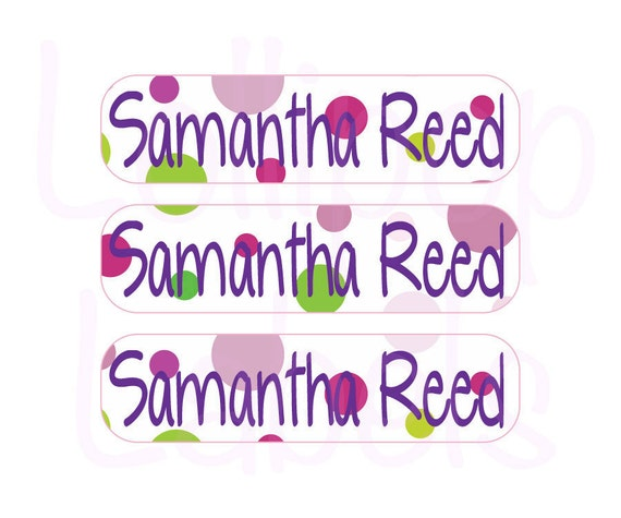 48 Personalized Children Tags - Custom School Supplies Labels - Perfect for Crayon Boxes, Lunch Boxes, Notebooks, Toys