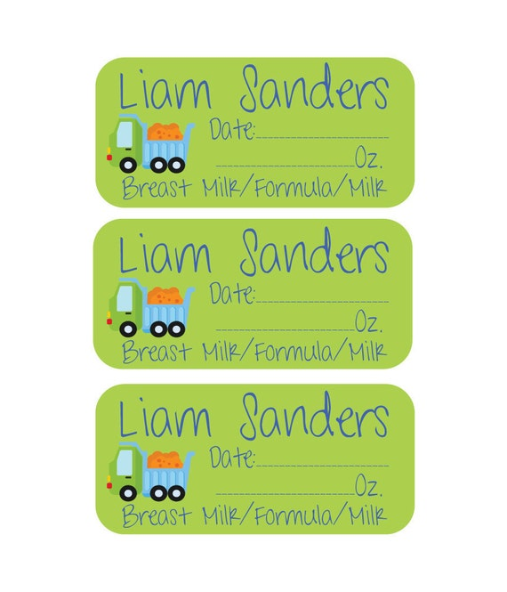 Personalized Removable (Single Use) Labels - Personalized Daily Bottle Labels - Breast Milk Labels