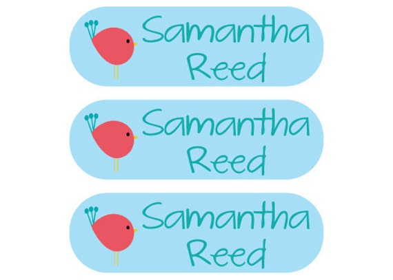 115 Personalized Iron On Clothing Labels - Perfect for School Uniforms, Coats, Gym Clothes, Sports Uniforms -