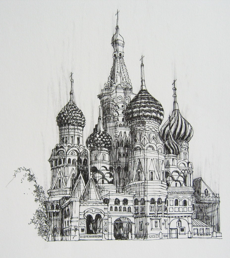 Moscow Kremlin Drawing