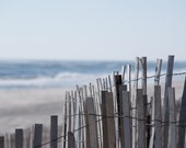 Long Island Photography Fine Art Photograph, Beach Fence 8x10 photo Photographer Gene Mullen