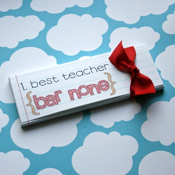 Printable Candy Bar Box for Best Teacher, Teacher Appreciation