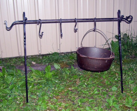 Camp cooking set for back packers, canoeing, mountain men , cival war reinactors  Hand crafted by a blacksmith in the USA