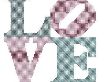 Cross Stitch Pattern/Modern Cross Stitch Pattern/Modern Love Cross Stitch/Love Cross Stitch/Cross Stitch Love/Cross Stitch/Digital Pattern