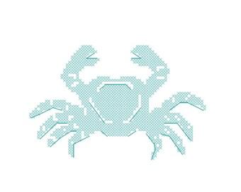 Cross Stitch pattern Crab -beach decor