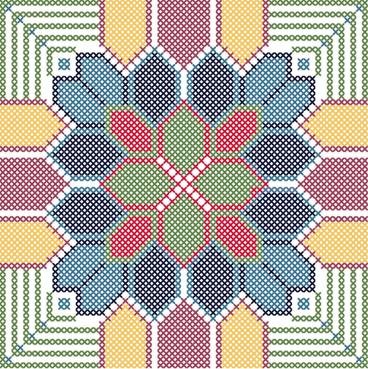 Geometric Flower Viewing Gallery