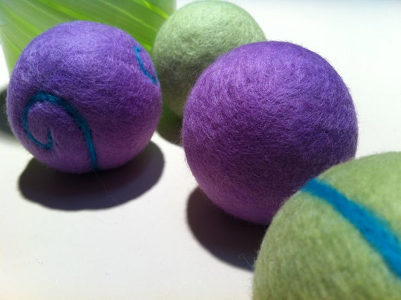 Wool Dryer Balls, Spring's a Commin, Natural,Can Be Scented