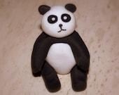 Panda, fondant cake topper