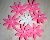 Flowers, cake and cupcake toppers. One dozen.