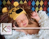 Baby Lion Hat 'King of the Jungle' costume or photo prop newborn through toddler
