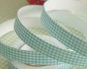 Pretty Blue Checkered Fabric Tape