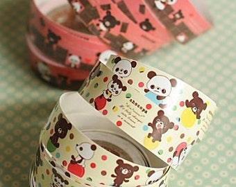 Kawaii Paper Decorative Tape 2 Rolls - Teddy Bear Tape