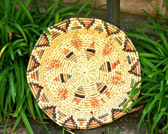 Vintage Rattan Accessories Tray
