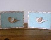 Handmade Greeting Card Set with Bird