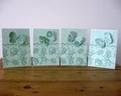 Handmade Greeting Card Set with Butterflies