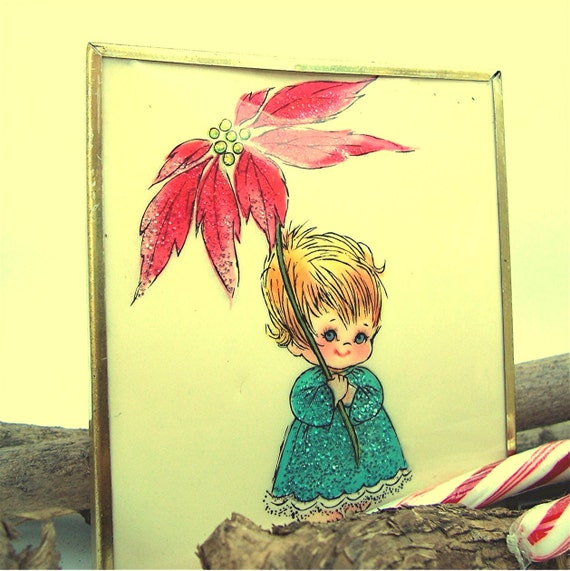 Vintage Holiday Picture, Christmas Decoration
