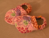 Pink Zinnia Baby Shoes