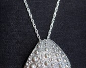 Sea Urchin Shell necklace, sterling silver - Charity SURFRIDER FOUNDATION