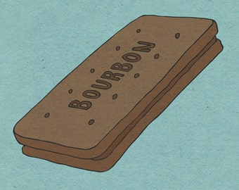 Bourbon Biscuit - Illustration Print