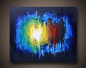 "Huge Contemporary Abstract Painting ""Sacrifice"""