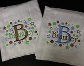 Personalized Baby Burpcloth set of 2