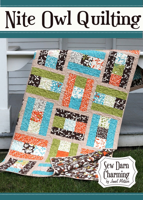 Sew Darn Charming Quilt Pattern, Baby to King sizes, PDF Version