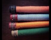 Set of 4 Vintage Thread Spools