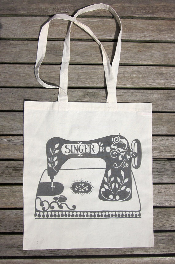 Handy Eco Tote Bag: The Heritage Sewing Machine