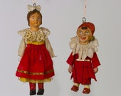 Reserved Diana H Vintage Pair European Figurative Ornaments
